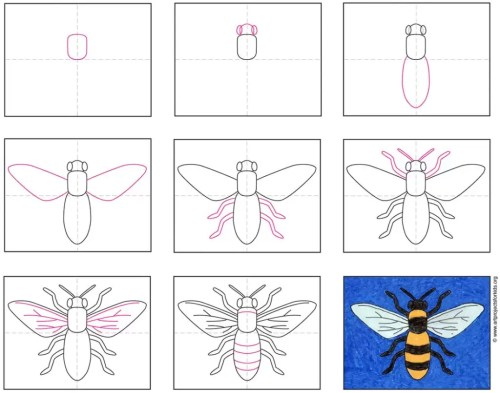 small resolution of How to Draw a Bee · Art Projects for Kids