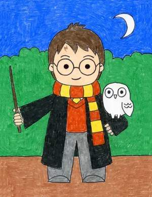 potter harry draw drawings drawing projects easy artprojectsforkids students step owl wand tutorial his scarf elementary bloglovin learn books