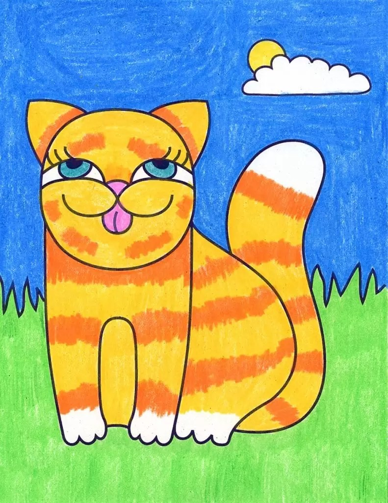 Cute Cat Pictures To Draw : pictures, Drawings, Cartoon, Projects