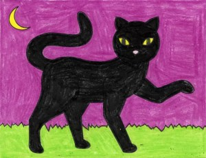 cat draw easy projects halloween step into looks artprojectsforkids