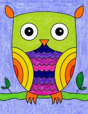owl easy draw step fun projects shapes colors lots