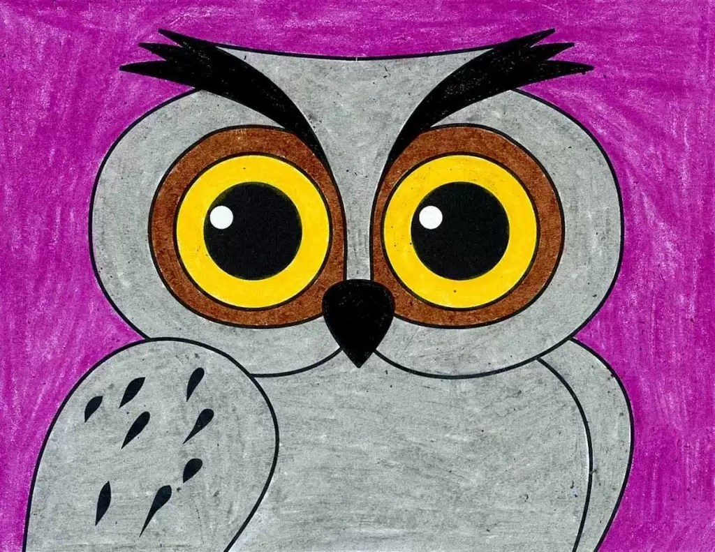 How To Draw An Owl Face Art Projects For Kids