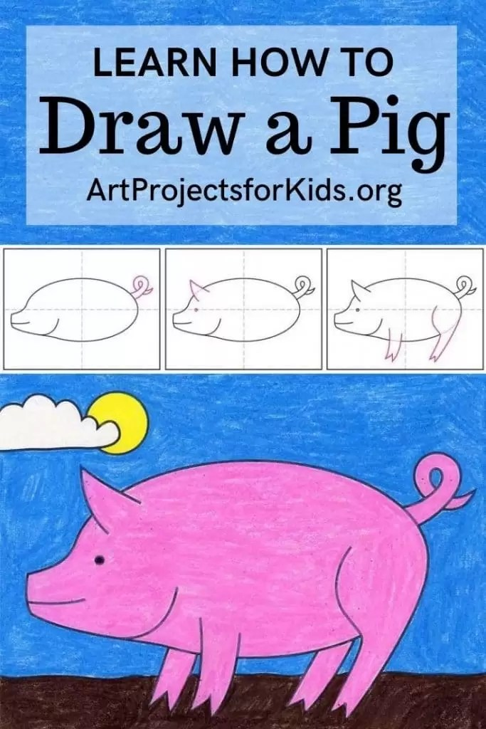 How To Draw A Pig Face : Projects
