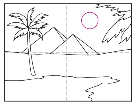 How to Draw the Pyramids · Art Projects for Kids