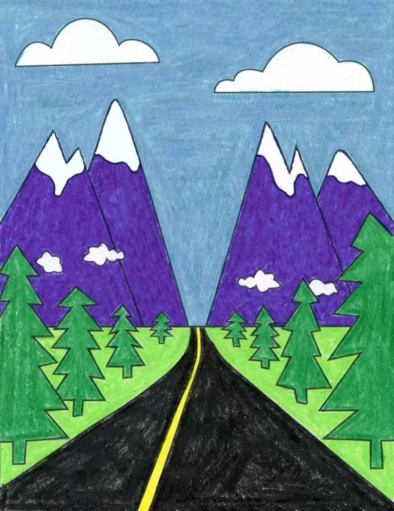 How To Draw A Landscape Art Projects For Kids