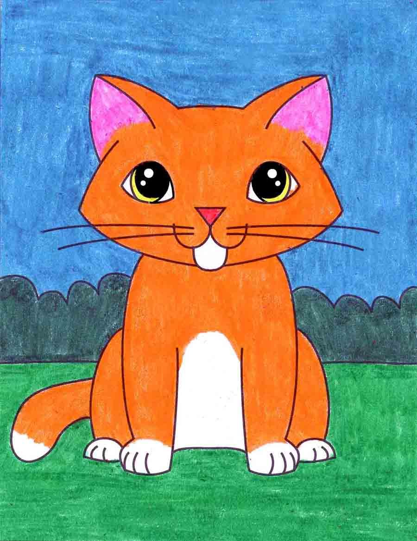 Easy Kitten Drawing : kitten, drawing, Kitten, Projects