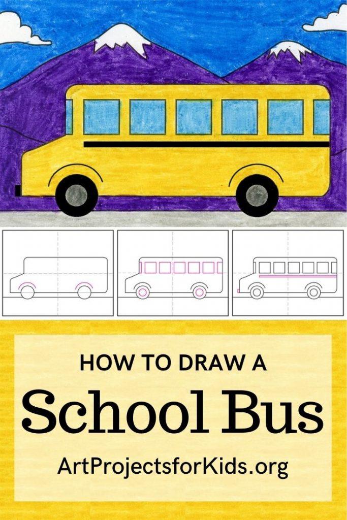 School Bus Drawing : school, drawing, School, Projects
