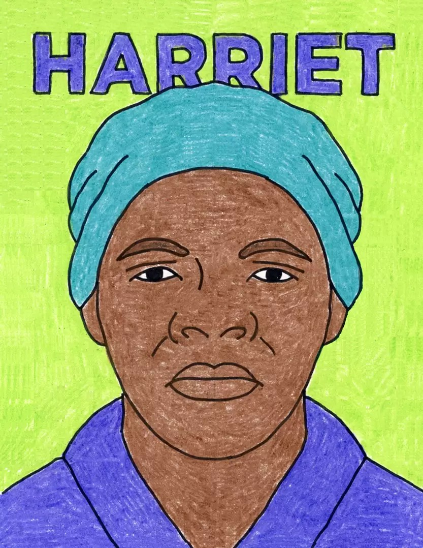 hight resolution of Remarkable Women: How to Draw Harriet Tubman · Art Projects for Kids