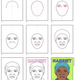 Remarkable Women: How to Draw Harriet Tubman · Art Projects for Kids [ 1024 x 792 Pixel ]