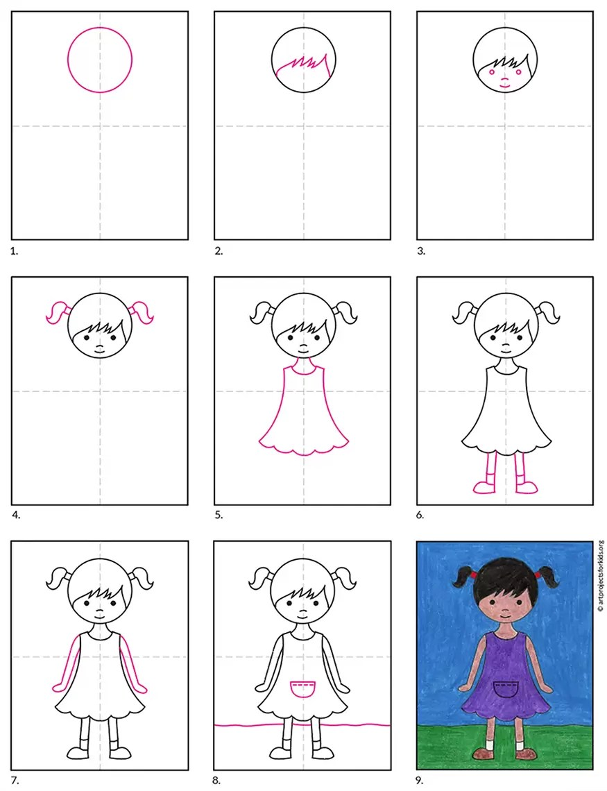 Pictures Of Girls To Draw : pictures, girls, Dress, Projects