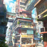 Cityscapes illustrations by Malasyan artist Chong Fei Gia