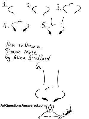 nose draw simple step