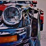 Porsche D Apres Une Photo De Julien Motron Gilbert Verani Peintres Artistes