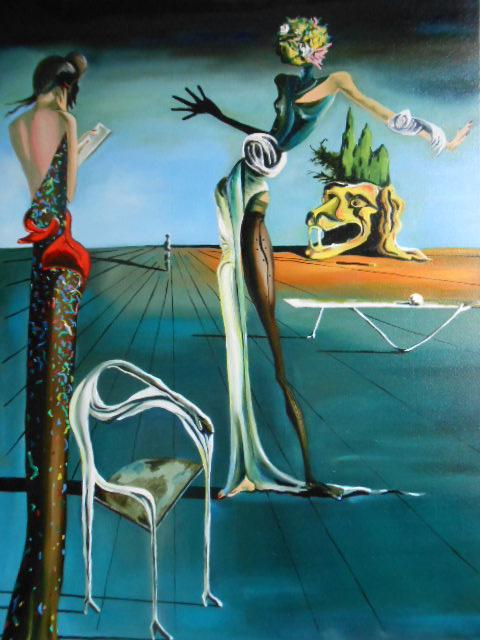 Salvador Dalí œuvres D'art : salvador, dalí, œuvres, d'art, Peintures,, Femme, Tête, Roses, D'après, Salvador, Dali,, 7726,, Oeuvres, D'Artistes