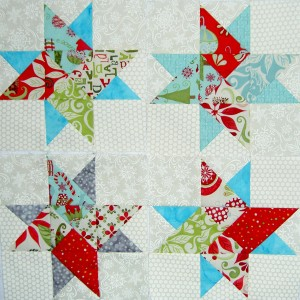 4 Frosted Star Blocks