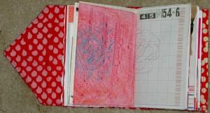 Red Journal - pink crayon