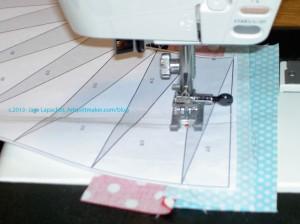 Sew on black line