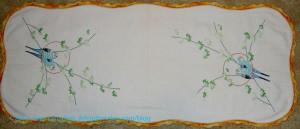 Parakeet Embroidery