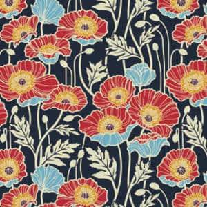 Joel Dewberry Notting Hill Pristine Poppy (midnight)