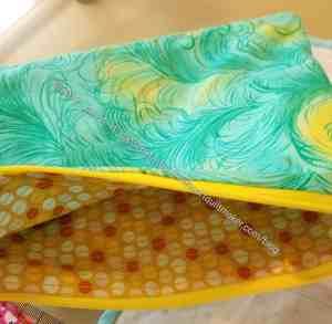 Green & Yellow Zipper Pouch