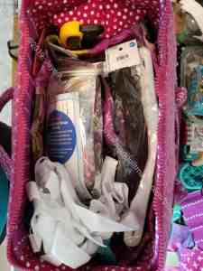 Tool Tote with bag supplies