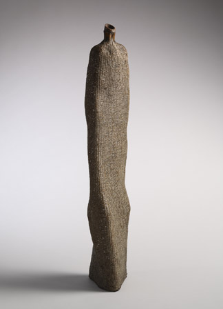 Nagakura Ken'ichi (b. 1952), Woman, 2004. Bamboo, lacquer, and powdered polishing stone and clay, H. 32 1/2 in. Collection of Diane and Arthur Abbey.