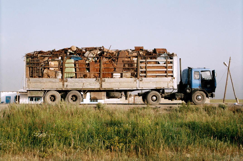 Metal Truck Caravan Gulnara Kasmalieva and Muratbek