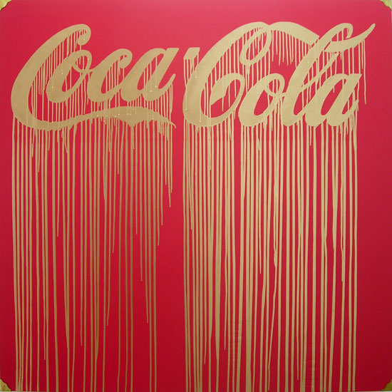 Liquidated Coca Cola, 2009, by Zevs. Oil on wood. 150 x 150 cm. HK$135,000