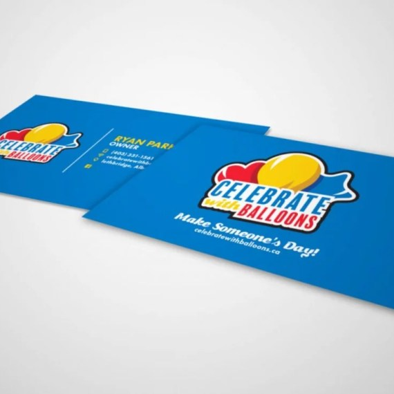 Celebrate With Balloons - Business Card Design - Lethbridge Alberta