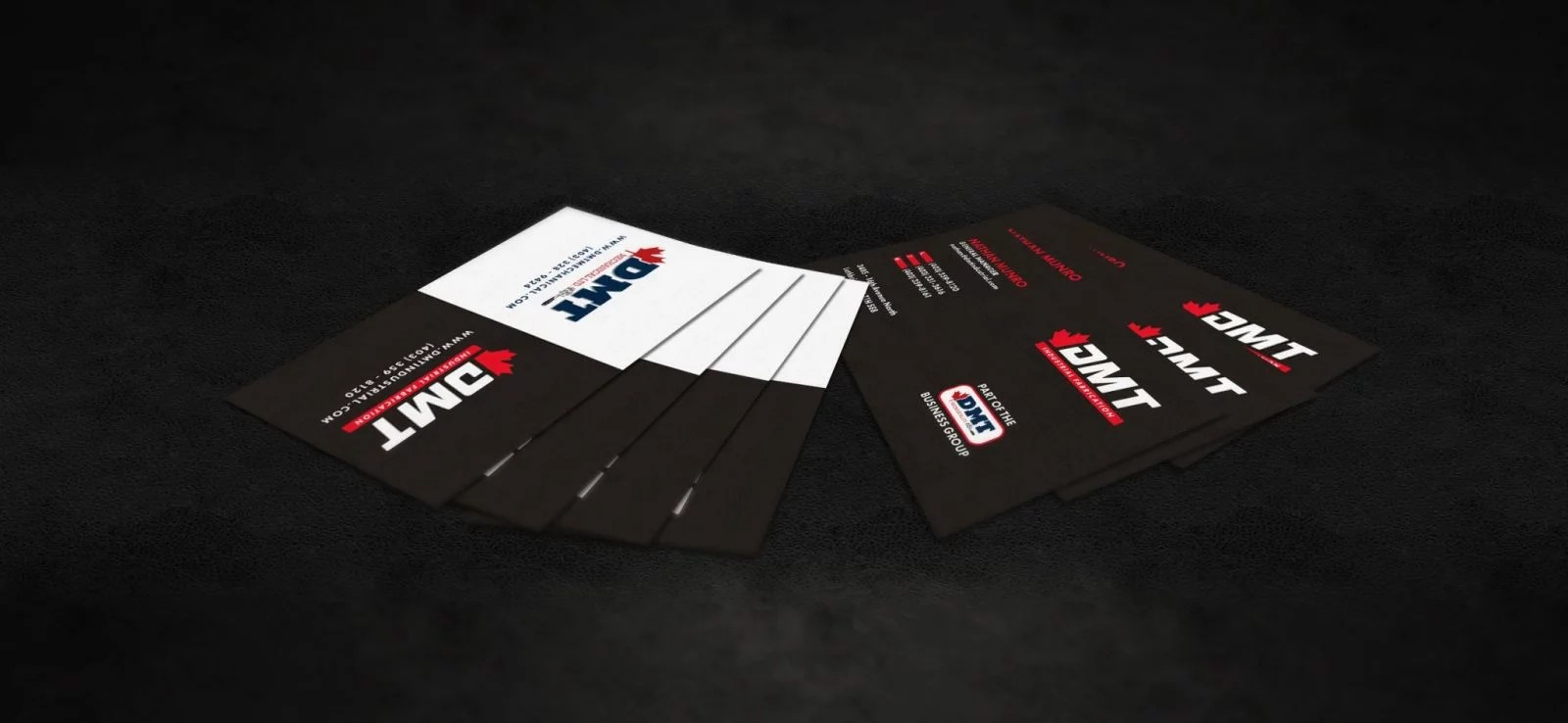 DMT Business Group - Business Card Design - Lethbridge Alberta