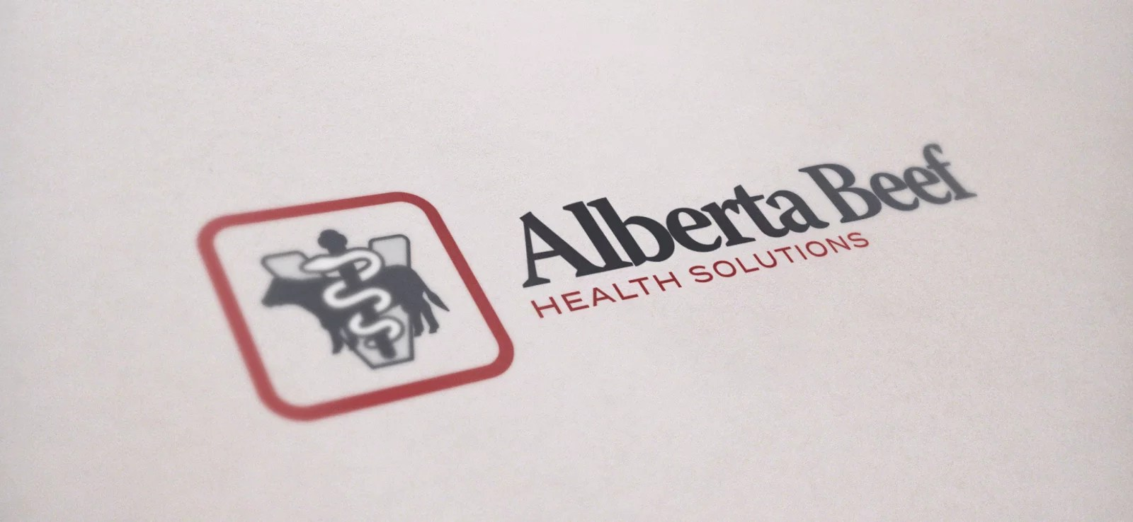 Logo Design Mockup for Alberta Beef Health Solutions