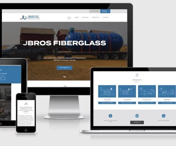 Web Design Markup for J Bros Fiberlgass by Artrageous Advertising