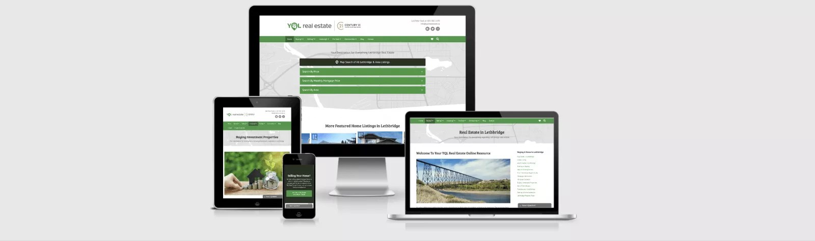 Website Design Mockup for YQL