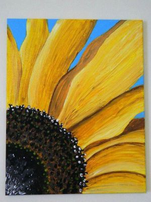 sunflower painting sunflowers paint canvas easy paintings flower acrylic diy flowers drawing watercolor sample gogh van pretty draw cool learn