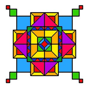 geometric designs geometry shapes simple drawing paintings artwork colorful patterns abstract geometrical boxes watercolor drawings deviantart inspiration clip amish graph