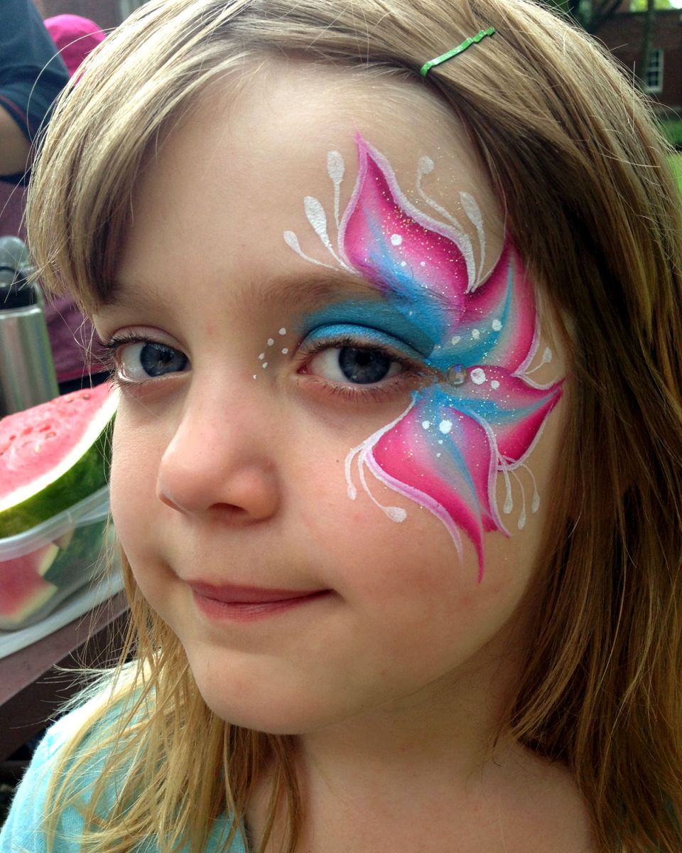 Flower Face Paint : flower, paint, Flower, Paintings