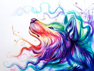 wolf deviantart drawings rainbow lucky978 cool drawing wolves colors eye animal colorful pencil dibujos arte eyes bloody tattoo awesome tattoos