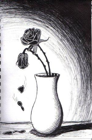 sad flowers drawings very deviantart paintings deviant