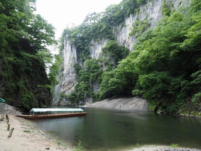 猊鼻渓舟下りの夏の風景写真