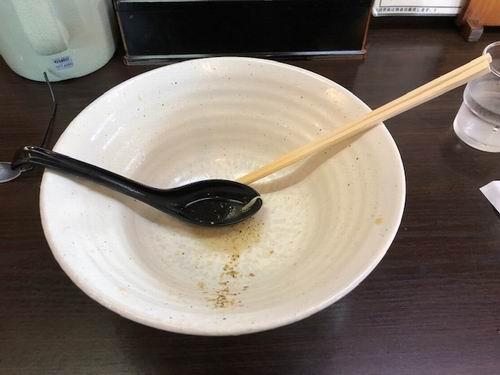 麺次郎赤丸ラーメンの完食写真
