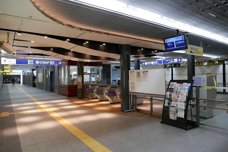 仙台地下鉄の西改札の風景写真