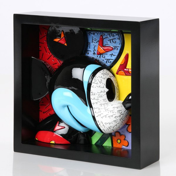 "Mickey Mouse ""love Stuck"" Pop Art Block 3- Romero"
