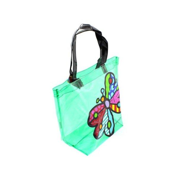 Britto Transparent Pvc Tote Bag Butterfly - Artreco