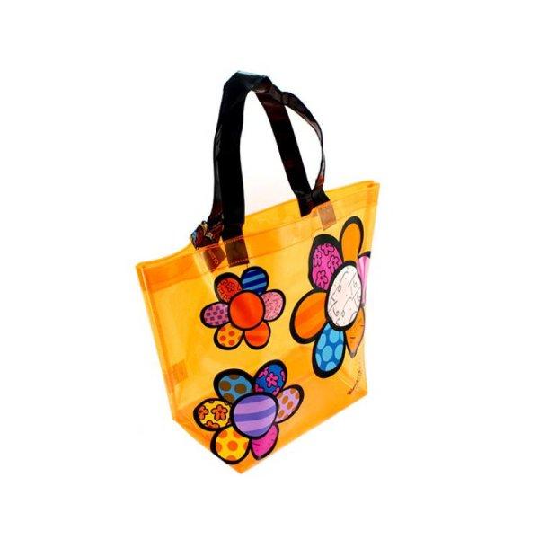 Britto Transparent Pvc Tote Bag Flowers - Artreco