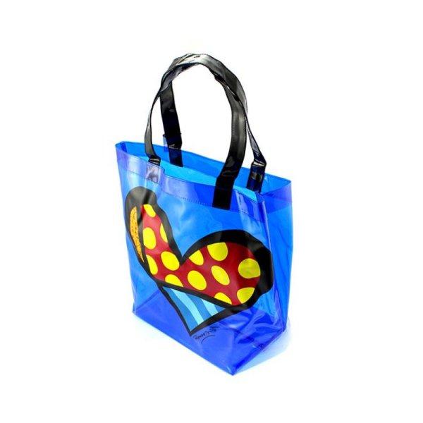 Britto Transparent Pvc Tote Bag Heart - Artreco