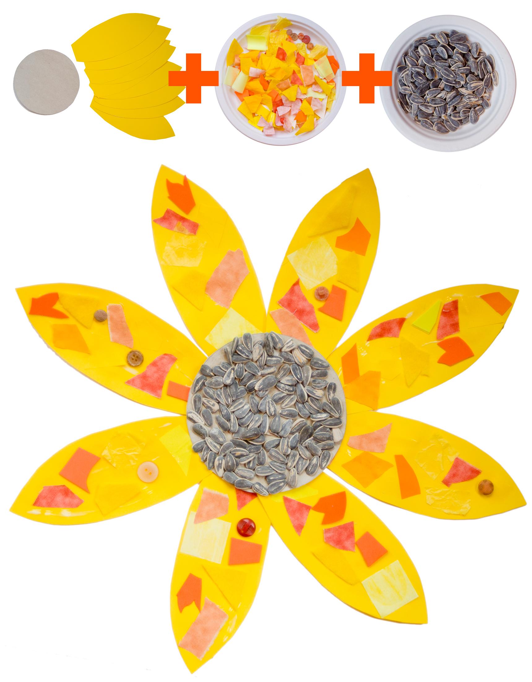 Van Gogh S Sunflower Collage Version For Preschoolers