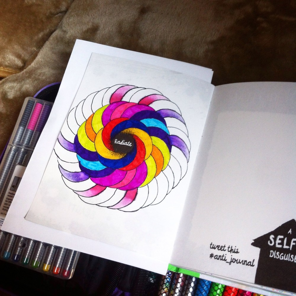 Anti Journal, Personal Art Journal and.... The Mindfulness Colouring Book (3/6)