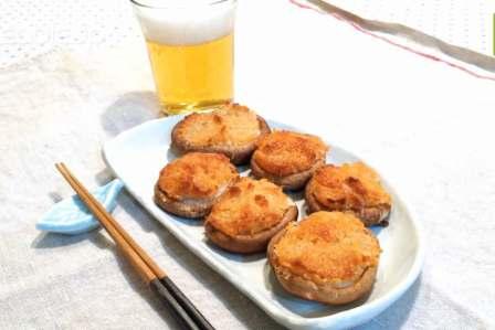 香ばしくておつまみに最適!しいたけのパン粉マヨ焼きの作り方・レシピ