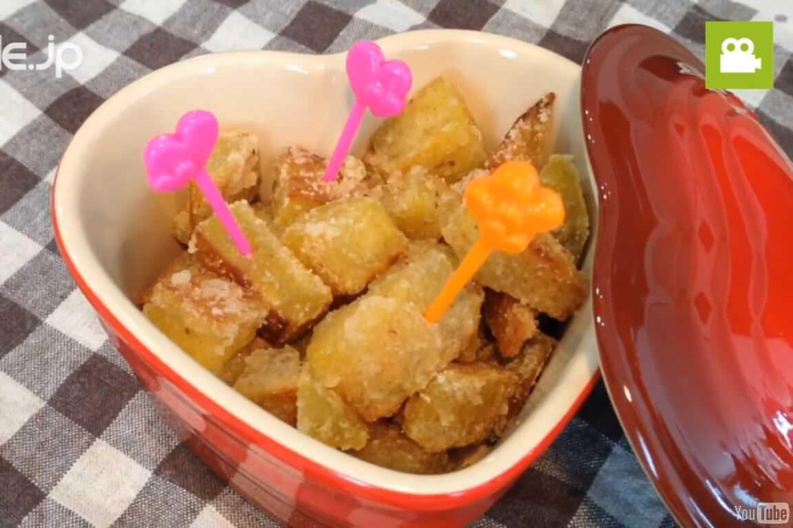 おやつにぴったり!さつまいものカリカリ塩バターの作り方・レシピ