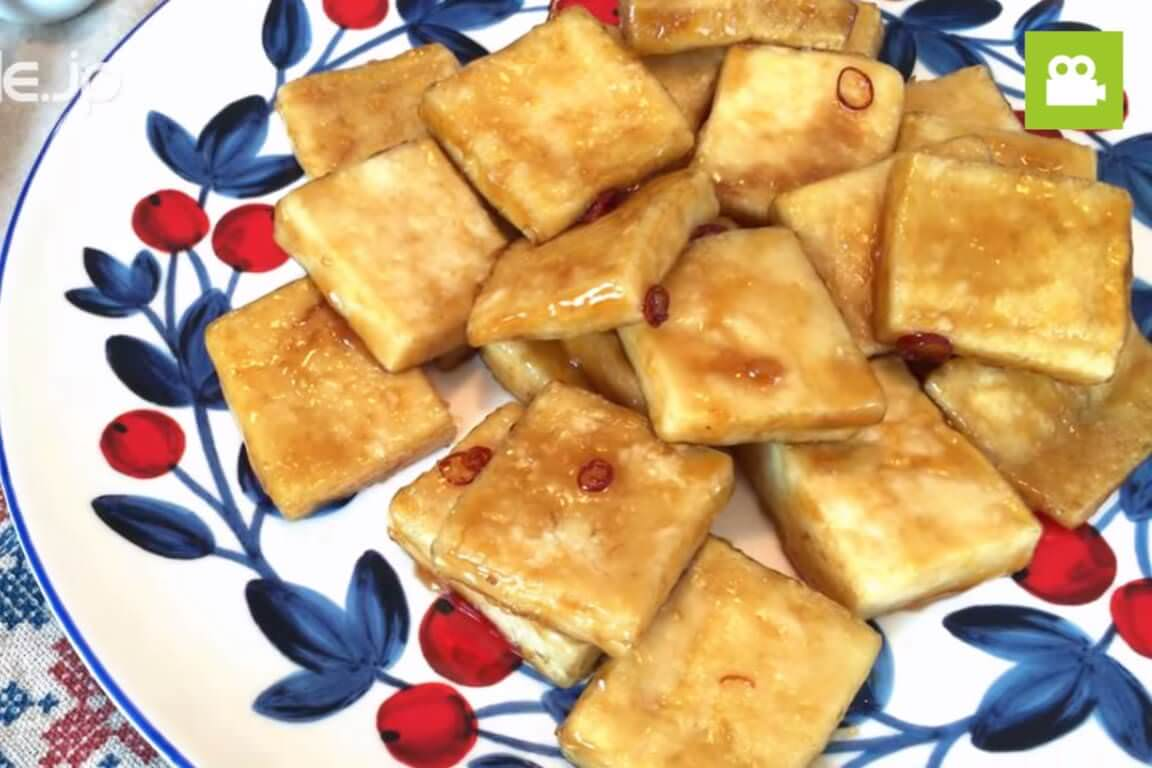 豆腐がまるでお肉!高野豆腐の甘辛にんにくしょうが焼きの作り方・レシピ